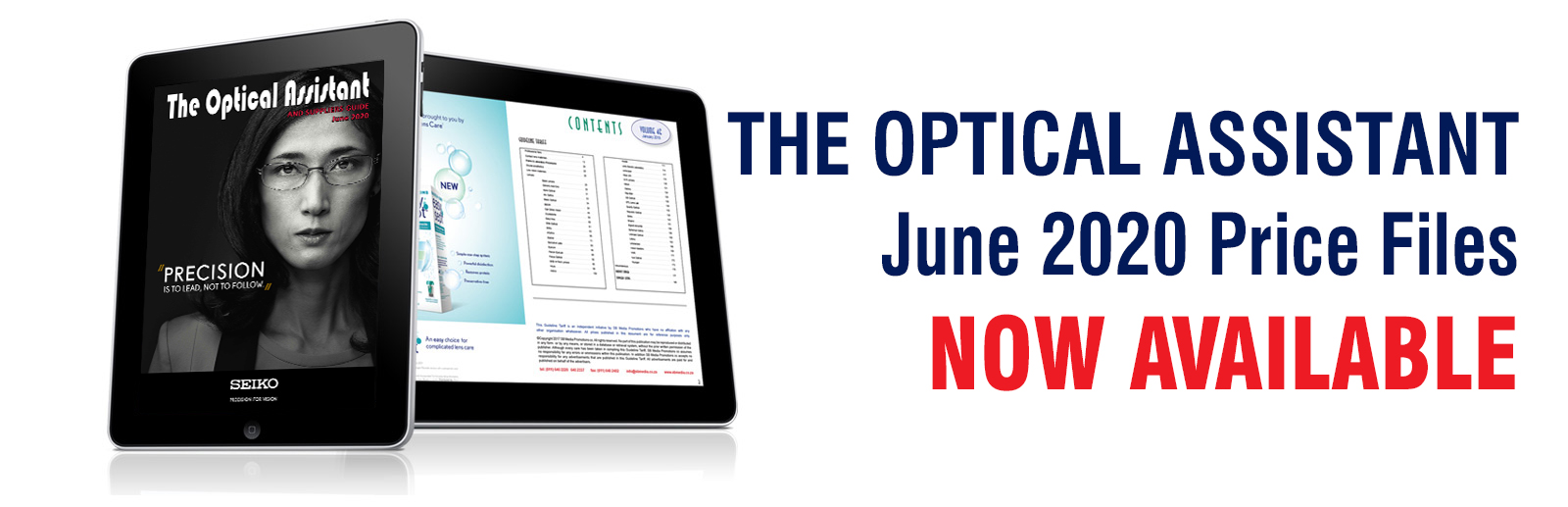 The Optical Assistant, June 2020 Price Files