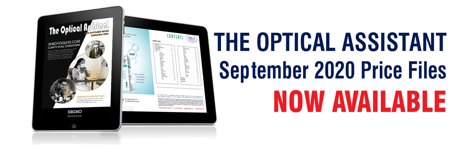 The Optical Assistant, September 2020 Price Files