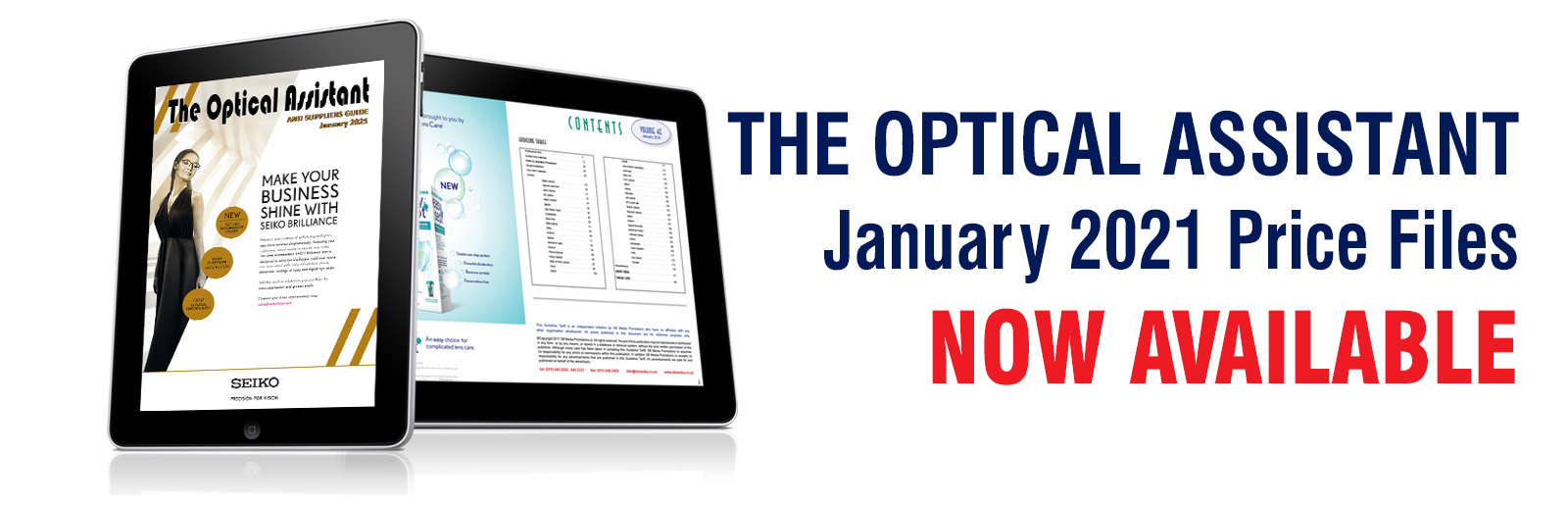 The Optical Assistant, January 2021 Price Files